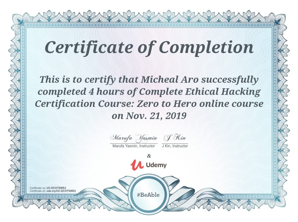 Complete Ethical Hacking Certification Course: Zero to Hero